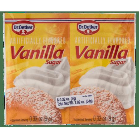 - Vanilla Sugar, (Oetker) (6x0.32oz) 54g