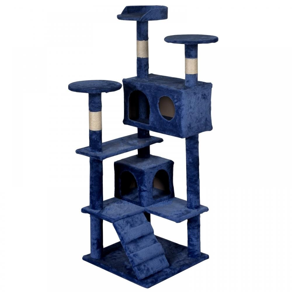 BestPet Navy Blue Cat Tree Tower Condo Furniture Scratch Post Kitty Pet House by