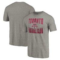 Toronto FC Fanatics Branded Antique Stack Tri-Blend T-Shirt - Gray