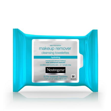 Neutrogena Hydrating Makeup Remover Facial Wipes, 25
