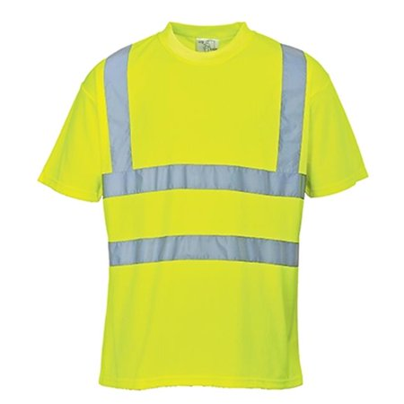 - Portwest S478 4XL Hi-Visibility T Shirt, Yellow - Regular