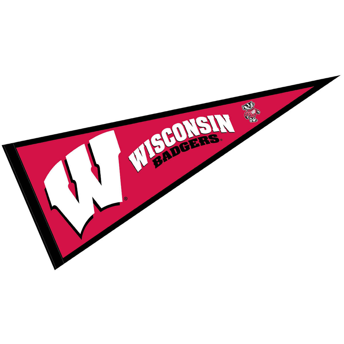 "Wisconsin Badgers 12"" X 30"" Felt College Pennant"