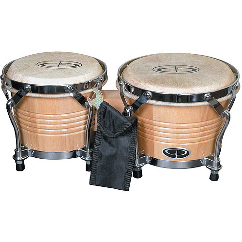 "GP Percussion Pro-Series Tunable 6"" 7"" Bongos, Natural by Generic"