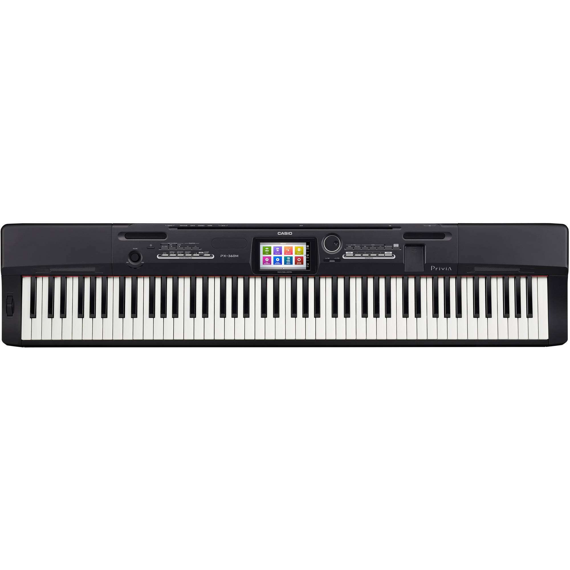 Casio PX-360 Privia 88-Key Digital Piano, Black by Casio