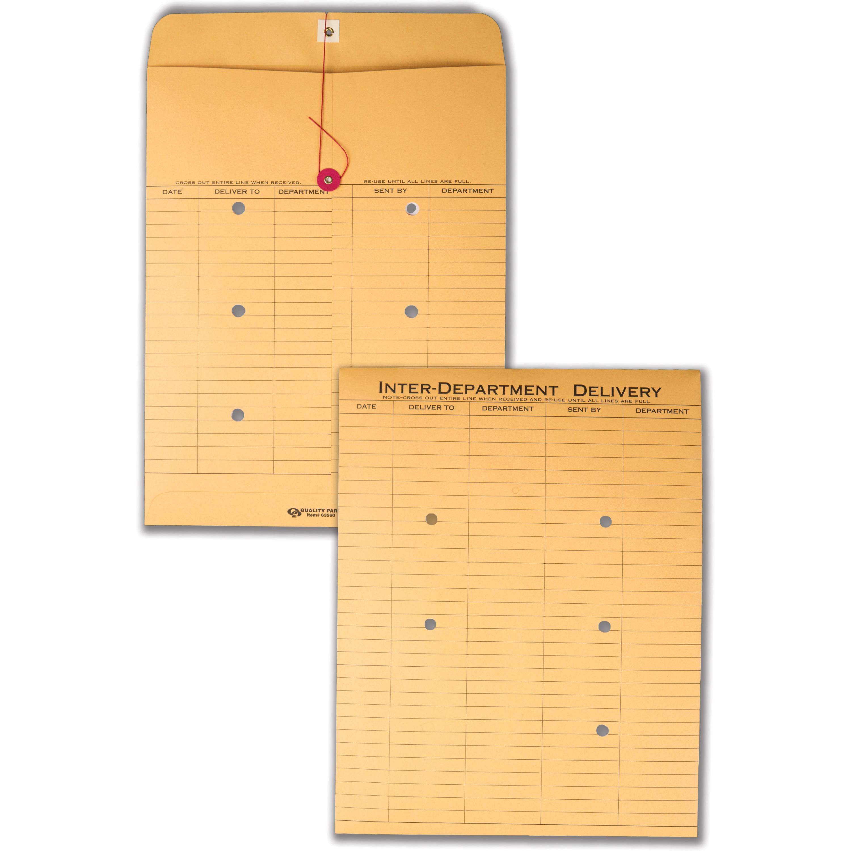Quality Park, QUA63560, Standard Inter-department Envelopes, 100 / Box, Brown Kraft