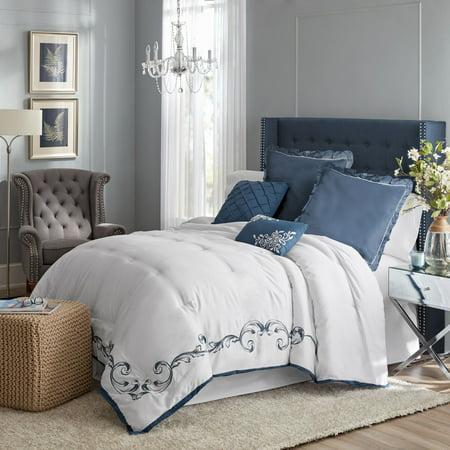 Hotel Style Vivien Embroidered Comforter Set, Queen