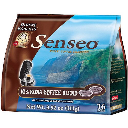 Senseo 10% Kona Coffee Blend Ground Coffee Pods, 16 count, 3.92 oz