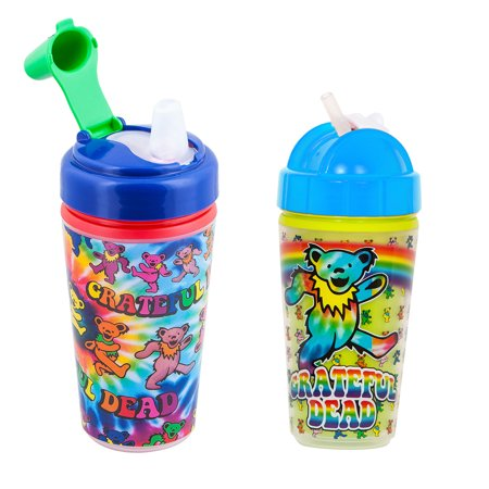Daphyl's Straw Sippy Cup - Grateful Dead Dancing Bear, 2 pack
