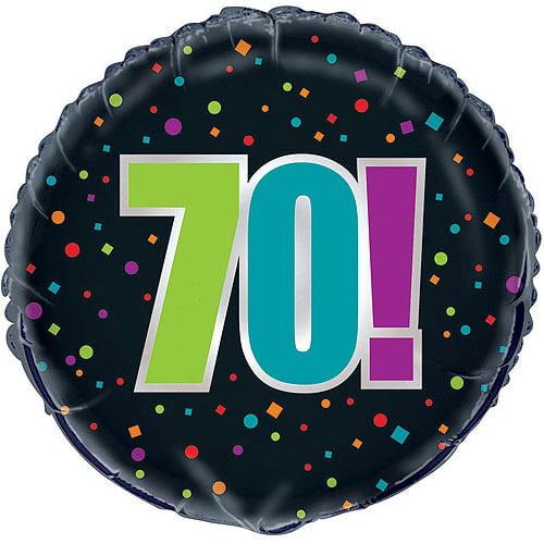 "18"" Foil Birthday Cheer 70th Birthday Balloon"