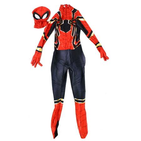Boys Costume Large Spider-Man Zip Back L