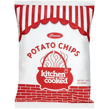 Kitchen Cooked Classic Potato Chips, 1.125 oz - Walmart.com