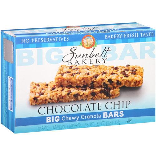 Sunbelt Bakery Chocolate Chip Big Chewy Granola Bars, 12 count, 16 oz