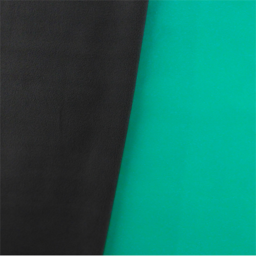 Soft Shell Fleece - Teal/Gray, Fabric By the Yard