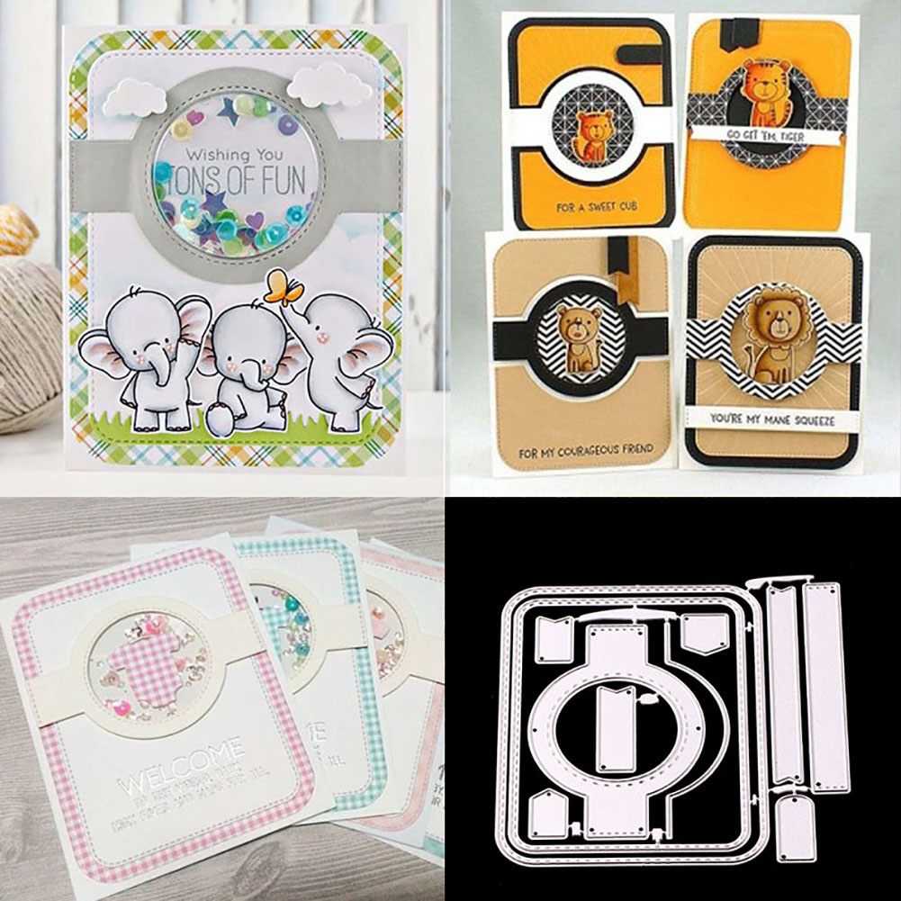 Girl12Queen Hollow Circle Card Cover DIY Decor Cutting Dies Handcrafts Embossing Stencil