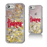 NU Nebraska Huskers Dots Glitter Case for iPhone 8 / 7 / 6