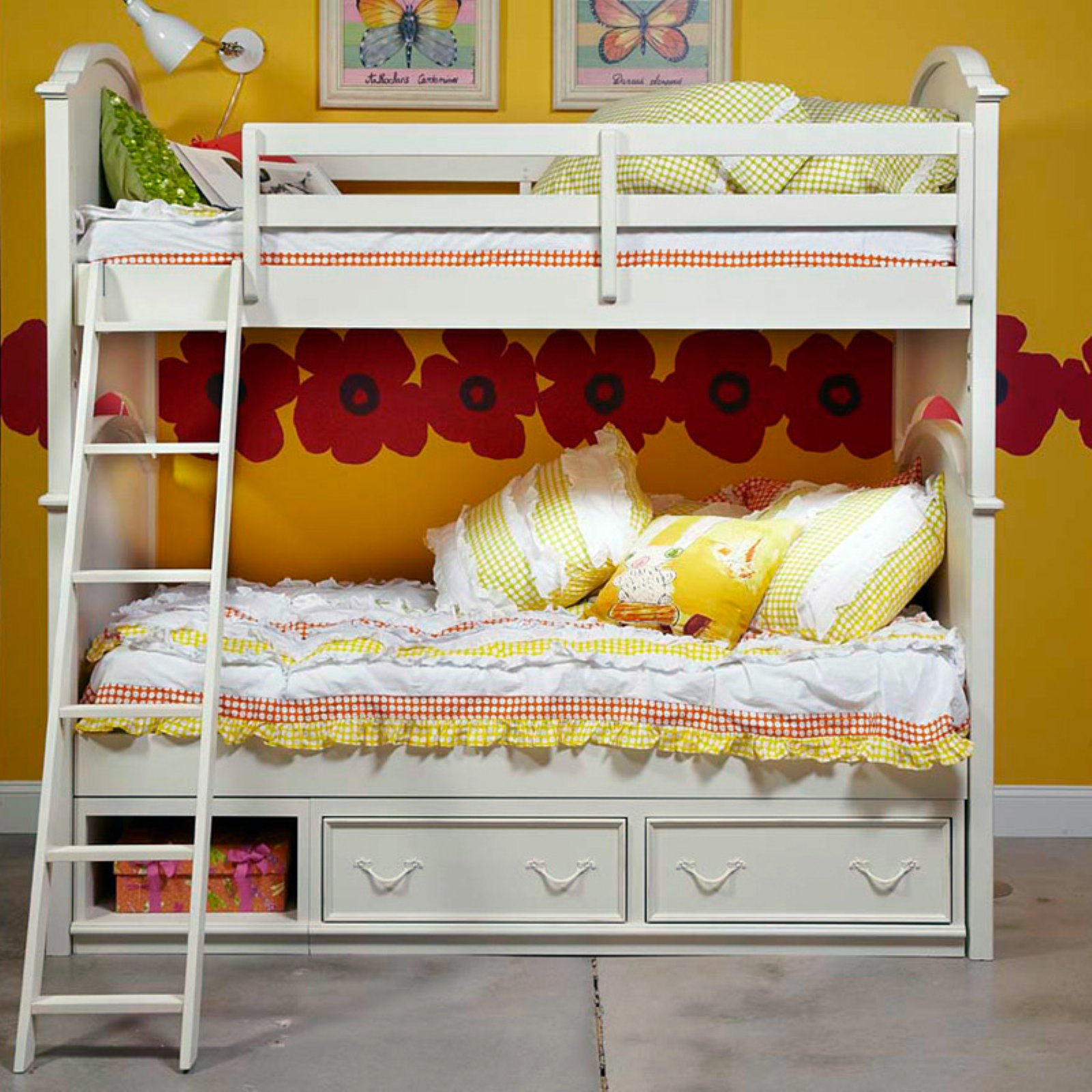 Charlotte Twin Over Twin Bunk Bed Antique White Walmart Com