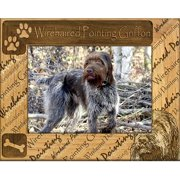 Giftworks Plus DBA0177 Wirehaired Pointing Griffon Alder Wood Frame, 5 x 7 In