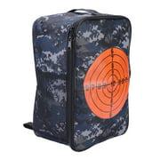 Qiilu Multifunctional Bullet Storage Bag Kids Target Pouch Backpack Case for Nerf N-strike, Bullet Backpack Case, Bullet Storage Pouch