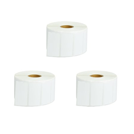 GREENCYCLE 3 Roll (1500 Labels/Roll) White Die Cut Paper Label Mobile Solutions Barcodes Tapes Compatible for Brother RDS05U1 2