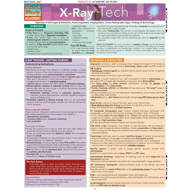 BarCharts- Inc.  9781423208945 X-Ray Tech