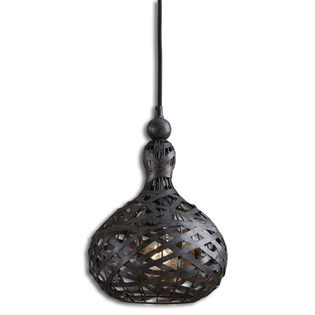 ... Aged Silver Woven Metal Gourd Mini Ceiling Pendant Light - Walmart.com