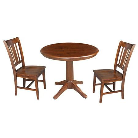 Pleasing 36 Round Top Pedestal Table With 2 Chairs Black Cherry 3 Piece Set Espresso Download Free Architecture Designs Crovemadebymaigaardcom