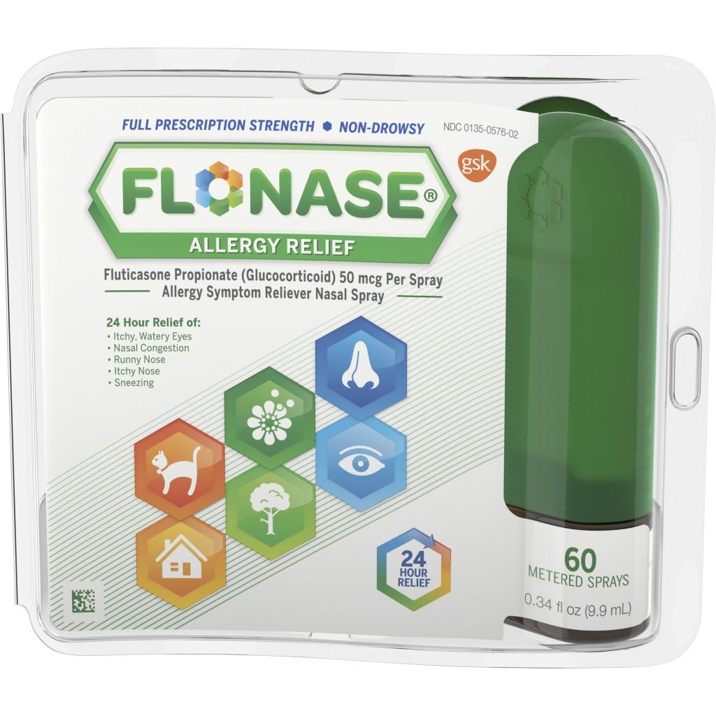 Flonase 24hr Allergy Relief Nasal Spray, Full Prescription Strength, 60 sprays