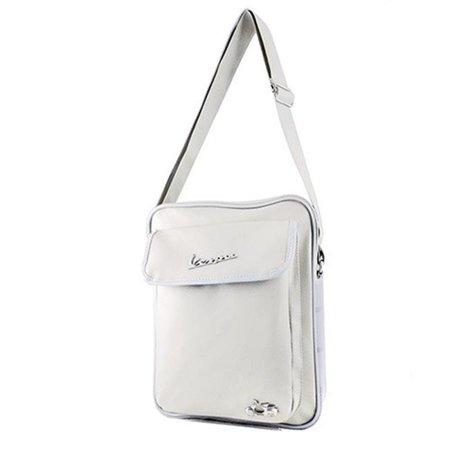 Vespa VPSC31 Rubber Trim Shoulder Bag - White - 9.8 x 12.5 x 2.7 in. - image 1 of 1