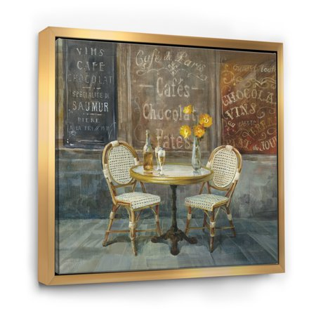 French Cafe - Traditional Framed Canvas - image 1 of 1