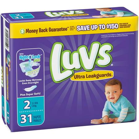 Luvs Triple Leakguards Diapers Size 2 31 Count