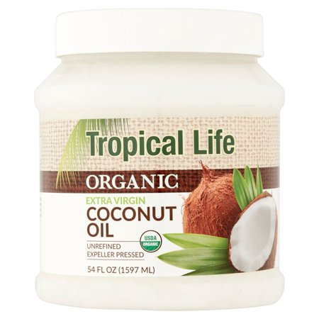 Tropical Life Organic Extra Virgin Coconut Oil  54 Fl Oz