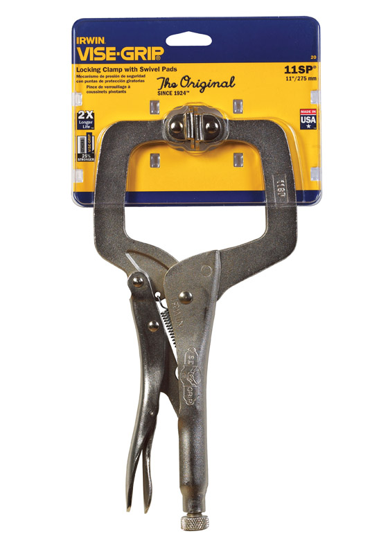 """2 TWO Locking C-Clamp Pliers 11/""""  INCH Easy Quick Release W//SWIVEL PAD"""