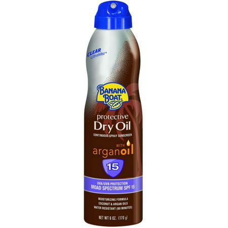- 4 Pack - Banana Boat UltraMist Tanning Dry Oil Continuous Clear Spray SPF 15 - 6 oz