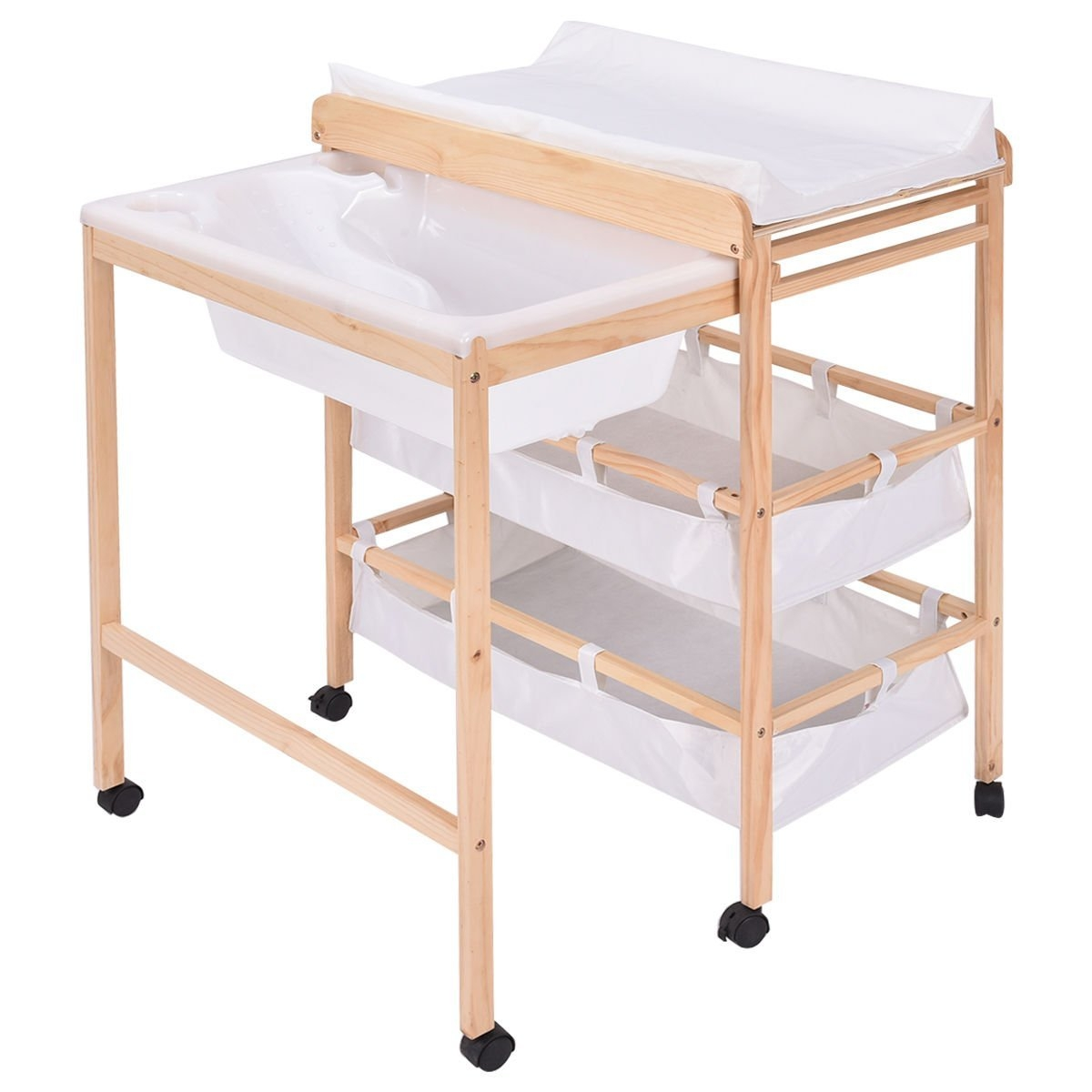 New MTN-G Baby Changing Table Nursery Unit Storage Station Pad Tray Integrated Bathtub by Quality Brand