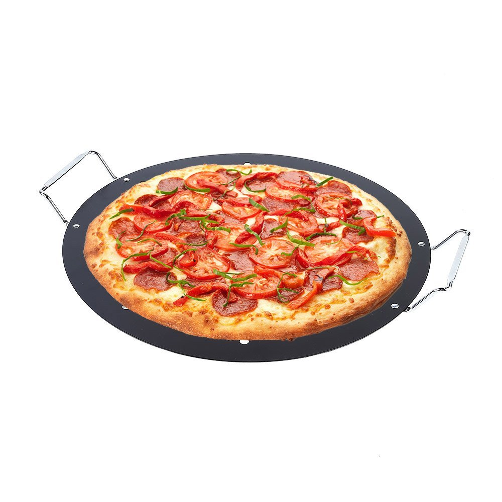 15-inch BBQ Pizza Pan, Arctic Monsoon, Non-stick Safety Coated Thick Gauge Cold Rolled... by