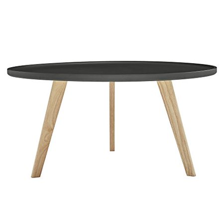 Mid Century Round Tray Style Table Top Accent Cocktail Coffee