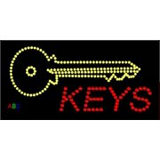 "12""x24"" ABC LED Signs Keys Logo LED Sign w/Flashing Controller - Standard Outdoor/Indoor"