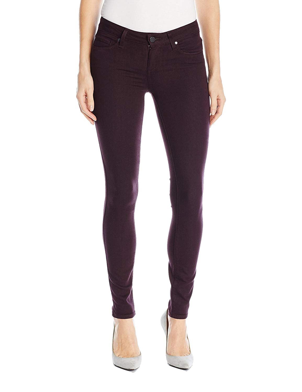 Paige Purple Womens 23x28 Stretch Skinny Verdugo Ankle Jeans