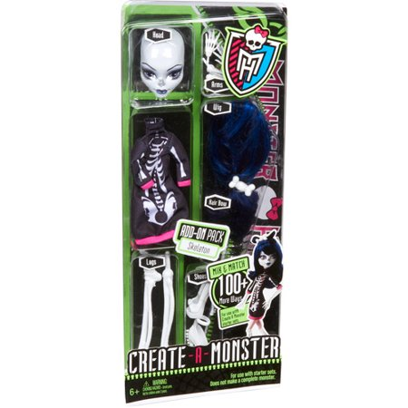 Monster High Create-A-Monster Skeleton Add-On Pack - Skeleton Girl Monster High