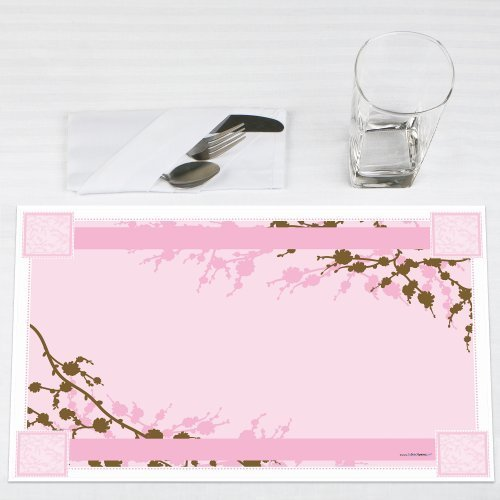 Cherry Blossom Party Placemats Set of 12 by Big Dot of Happiness, LLC