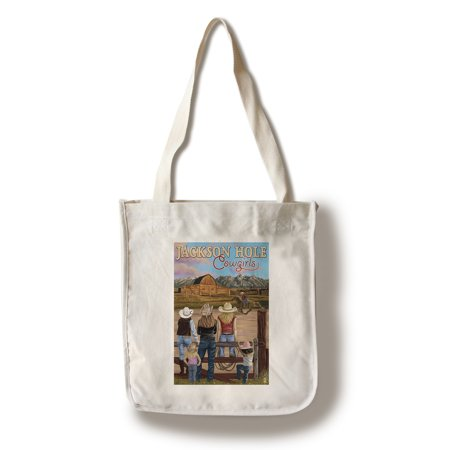 Jackson Hole, Wyoming - Cowgirls - Lantern Press Artwork (100% Cotton Tote Bag - - Cowgirl Backpacks