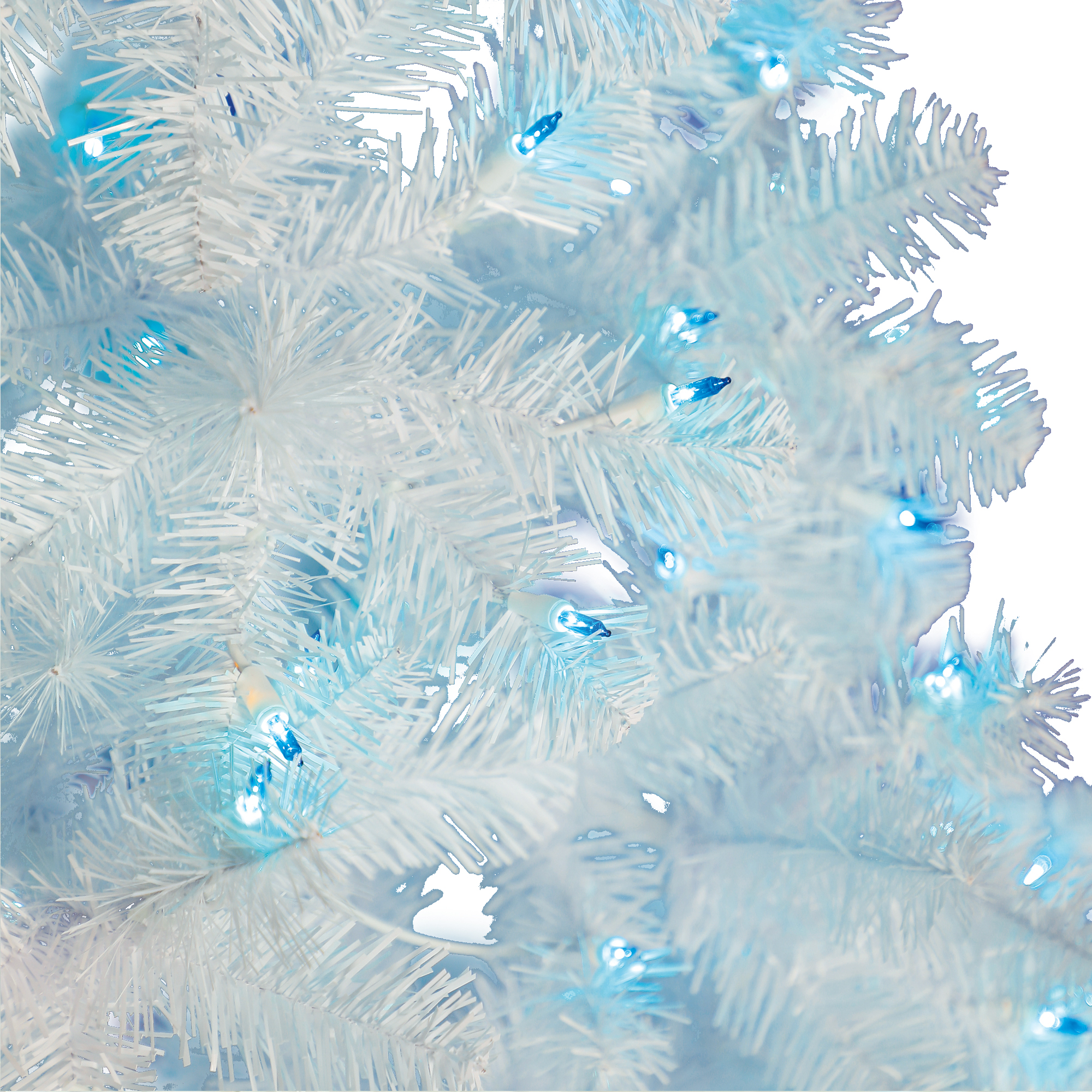Holiday Time Pre Lit 6 5 Madison Pine White Artificial Christmas Tree Blue Lights Walmart Com Walmart Com