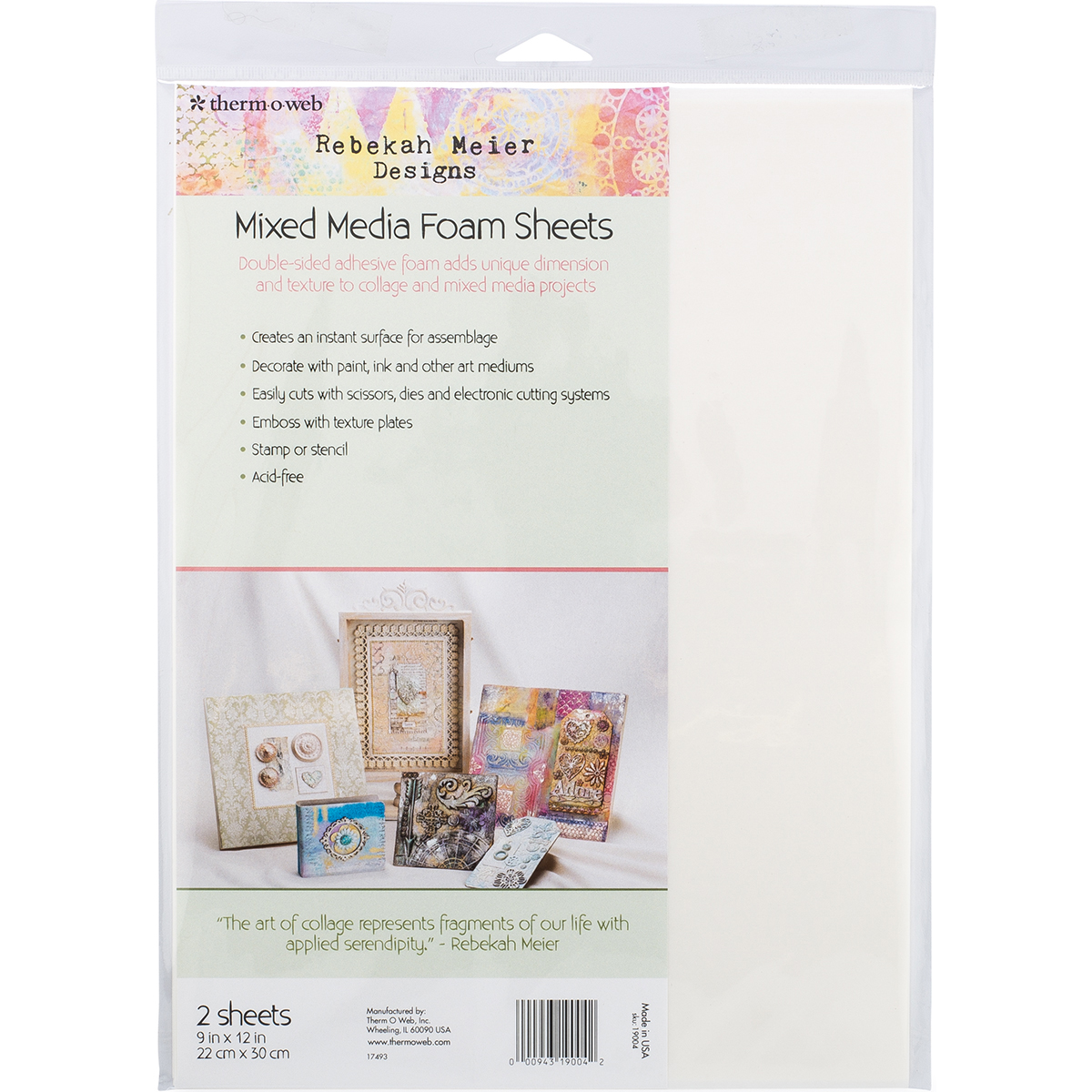 "Rebekah Meier Designs Mixed Media Foam Sheets 9""X12"" 2/Pkg"