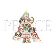 Pipsqueak Productions C538 Holiday Boxed Cards- Shih Tzu