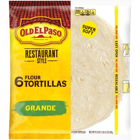 (3 Pack) Old El Paso Restaurant Grande Shells 6 Count, 21.5 oz