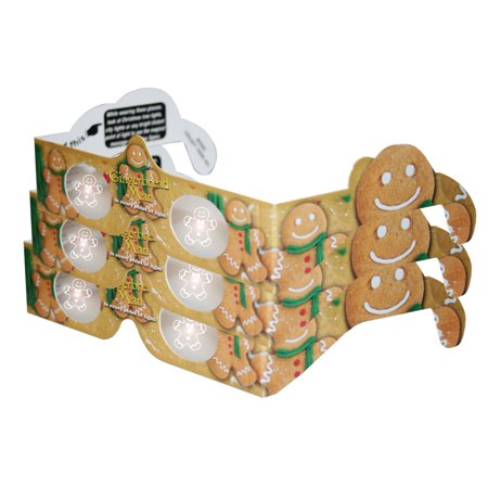 3d christmas glasses holiday specs gingerbreadman 3 pairs transform christmas lights into