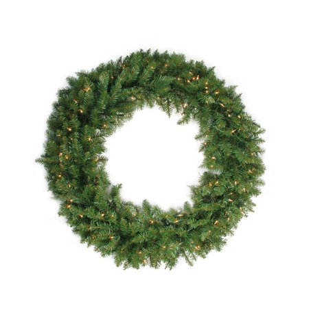 Alaskan Pine Wreath Clear Lights - 24