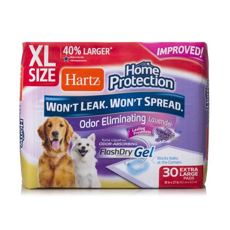 Hartz home protection odor-eliminating xl dog pads, 30 in x 21 in, 30