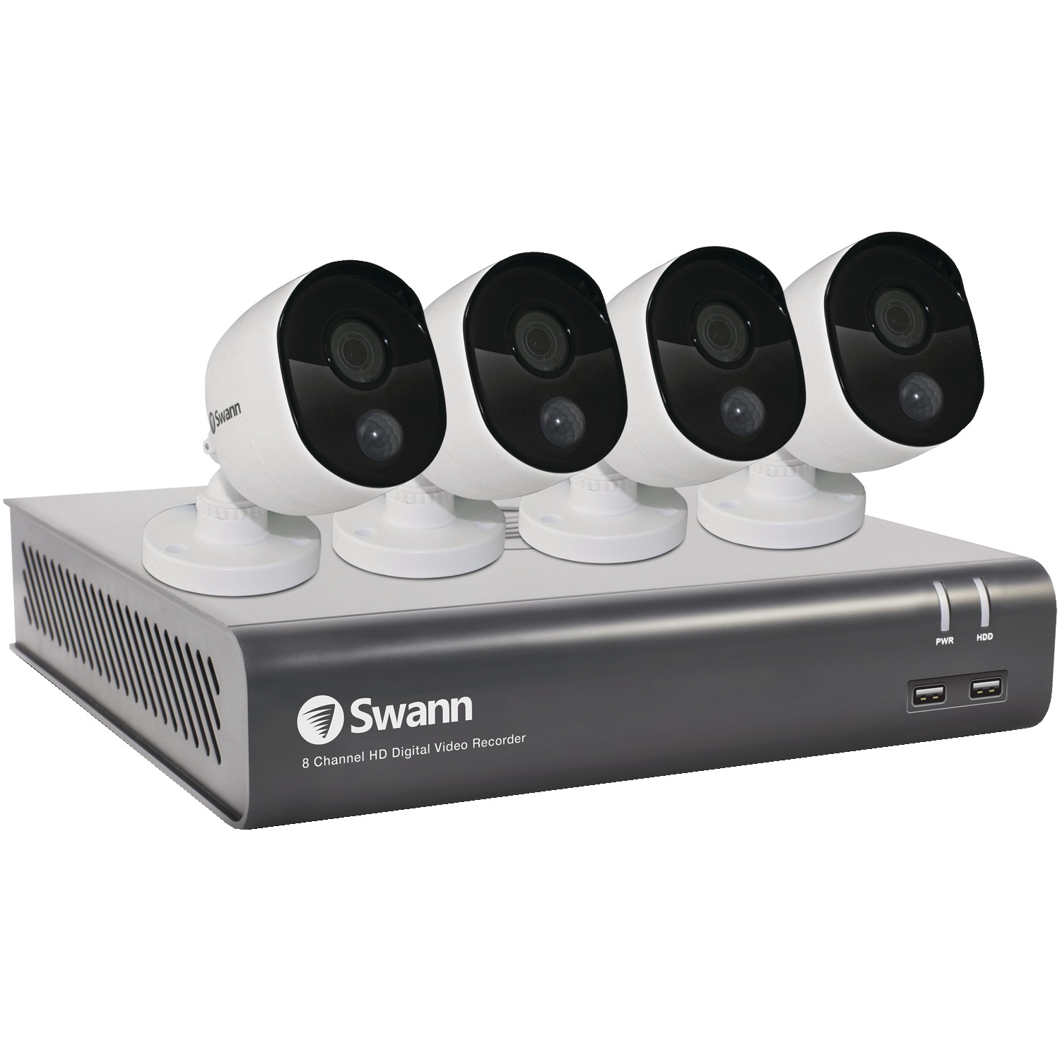 Swann SWDVK-845804-US 8-Channel 4580 Series 1080p DVR With 1TB HD & 4 PIR Bullet Cameras