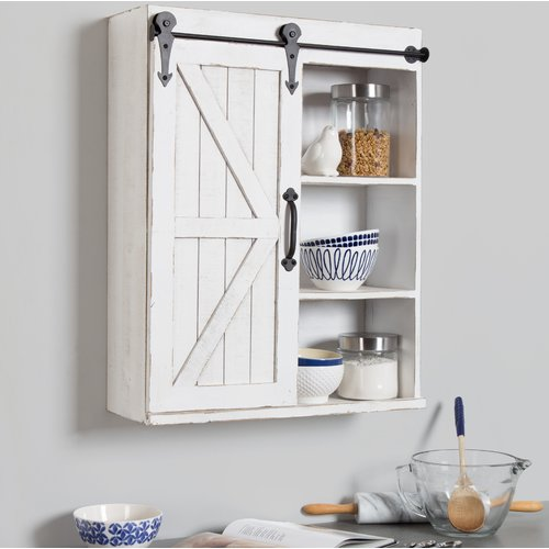 Gracie Oaks Banbury 21.75'' W x 27.75'' H Wall Mounted Cabinet